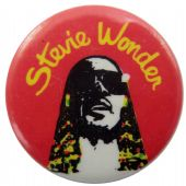 Stevie Wonder - 'Stevie Red' Button Badge